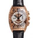 フランクミュラー 時計コピー トノーカーベックス ゴールドクロコクロノ 8880CCAT GOLD CRO