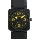 ベル&ロス腕時計コピー BR01-92S-YLW ブラック/イエロー