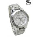 バーバリーメンズ腕時計コピー BU9700ホワイトフェイスクロノグラフ