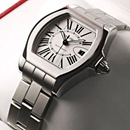 ブランド CARTIERカルティエ 時計コピー ロードスター S シルバーオパラインダイアル W6206017