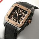 ブランド CARTIERカルティエ 時計コピー サントス100 カーボン コンビ W2020009