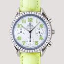 OMEGAオメガ コピー スピードマスター ダイヤベゼル グリーン革 ホワイトシェルグリーンアラビア 3835.72.35