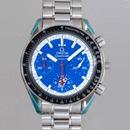 人気 オメガ時計ブランド スピードマスター ミハエルシューマッハ ブルー 3510.81