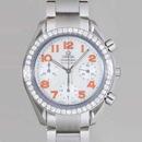 人気 オメガ時計ブランド スピードマスターダイヤベゼル 3535.78 ホワイトシェル/オレンジアラビア