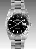 ロレックス(ROLEX) 時計 オイスターパーペチュアル デイト 115234 ブラック