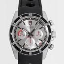 チュードル Tudor腕時計コピー グランツアークロノ ブラック革 シルバー 20530N